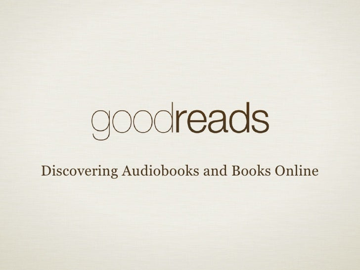 Discovering Audiobooks and Books Online