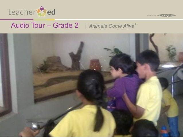 Audio Tour – Grade 2   | 'Animals Come Alive'