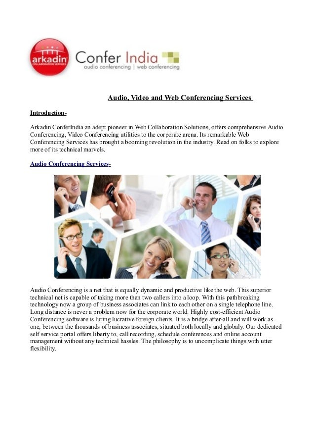 Audio video and web conferencing services