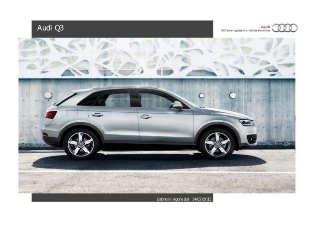 Audi q3: listino prezzi e caratteristiche tecniche