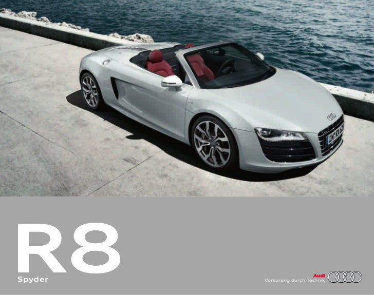 R8Spyder                            Audi         Vorsprung durch Technik