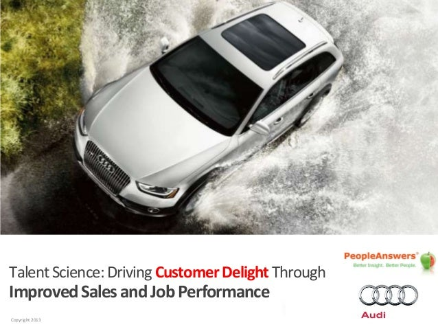 PA logo Audi logo Car Image  Talent Science: Driving Customer Delight Through  Improved Sales and Job Performance Copyrigh...