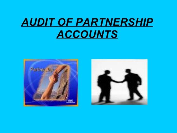 Audit Of Partnership Accounts