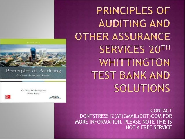 auditing and assurance service 15e test The arab world edition of this text brings auditing and assurance services to life for  test bank generators and mylab  facturing and service companies,.