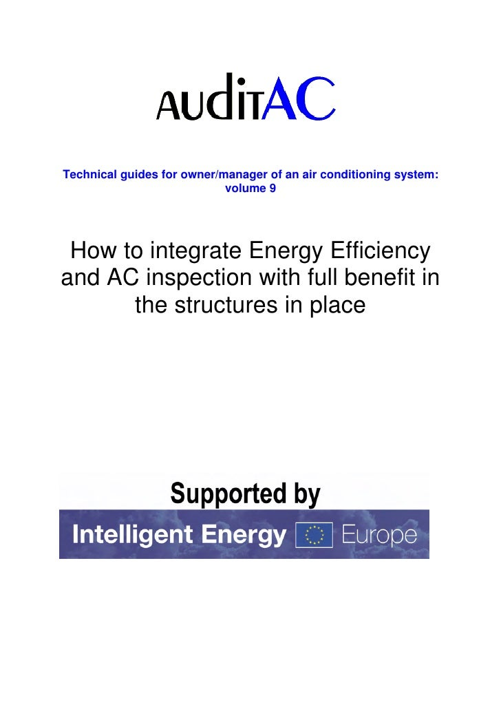 Auditac tg 9 how to integrate eneff and aci with full benefit in the structures in place