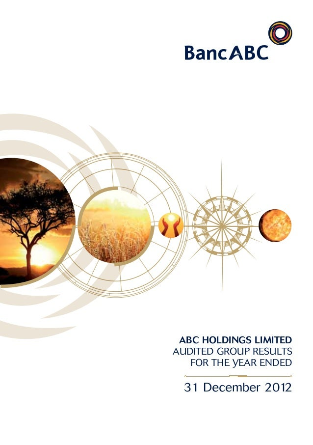 Audited group results for the year ended 2012