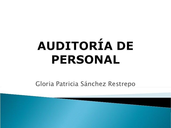 Gloria Patricia Sánchez Restrepo