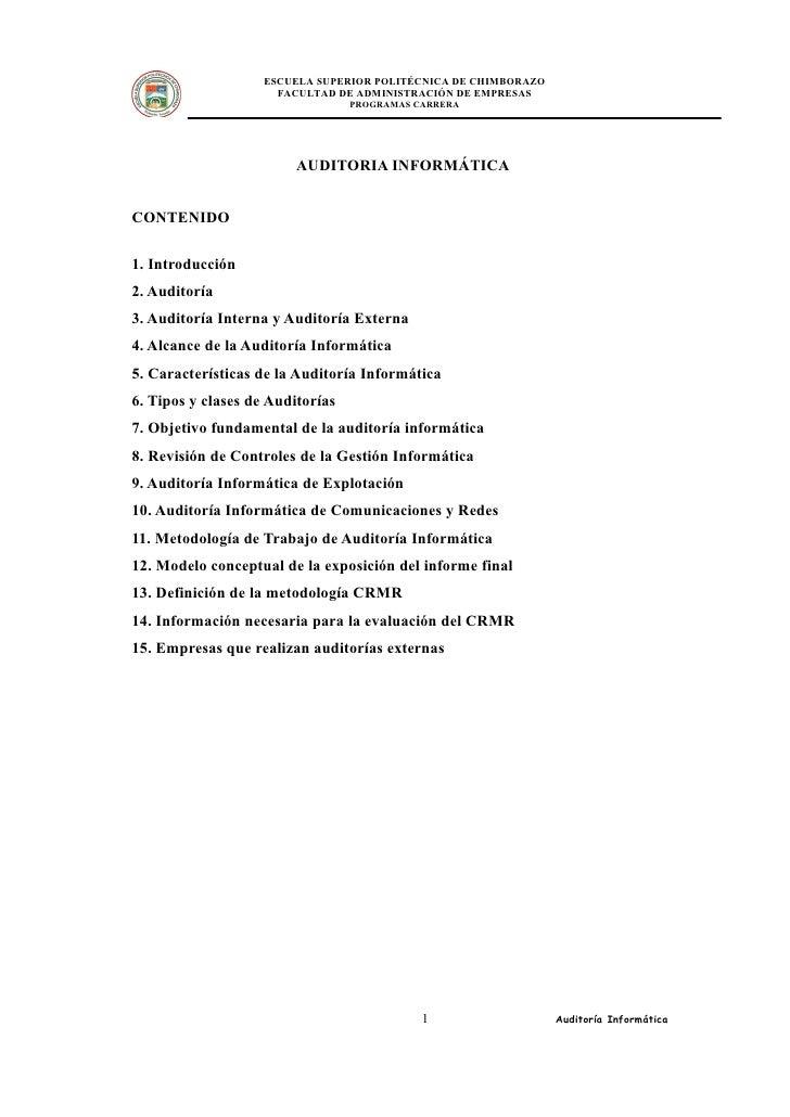 ESCUELA SUPERIOR POLITÉCNICA DE CHIMBORAZO                       FACULTAD DE ADMINISTRACIÓN DE EMPRESAS                   ...