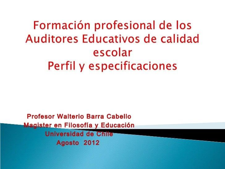 Auditor educacional en la realidad escolar