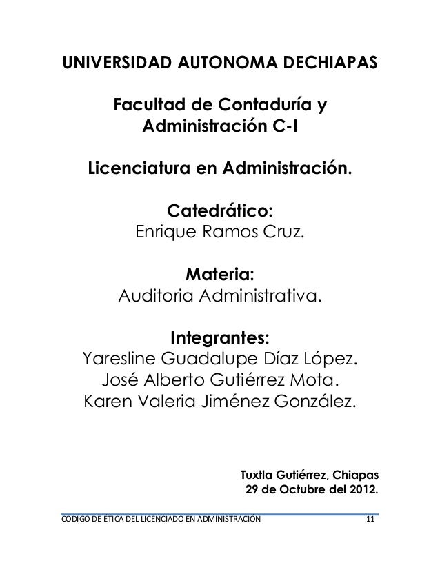 UNIVERSIDAD AUTONOMA DECHIAPAS Facultad de Contaduría y Administración C-I Licenciatura en Administración. Catedrático: En...