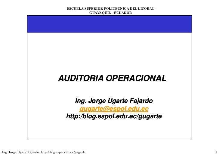 ESCUELA SUPERIOR POLITECNICA DEL LITORAL                                                       GUAYAQUIL - ECUADOR        ...