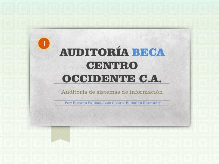 Auditoria Beca Centro Occidente C.A.