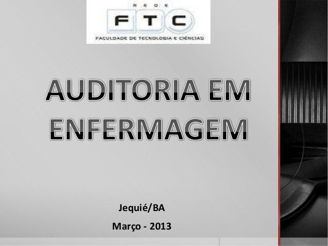 Jequié/BAMarço - 2013