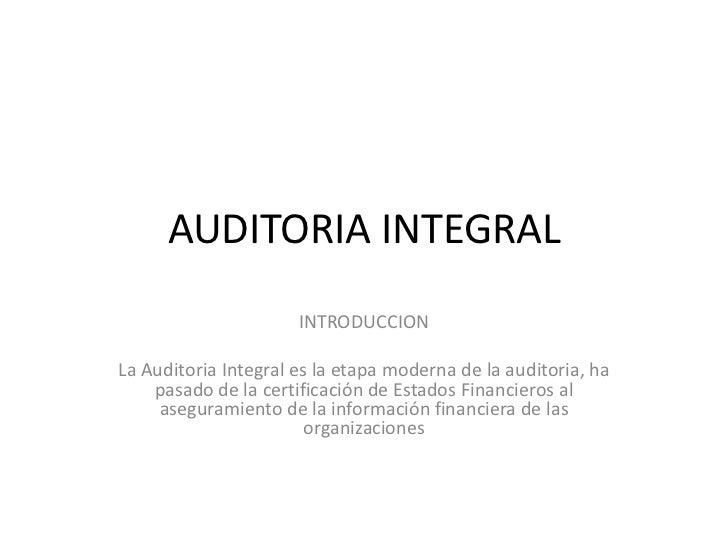 Auditoria integral