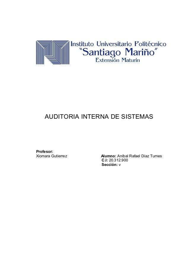 Auditoria interna de sistemas