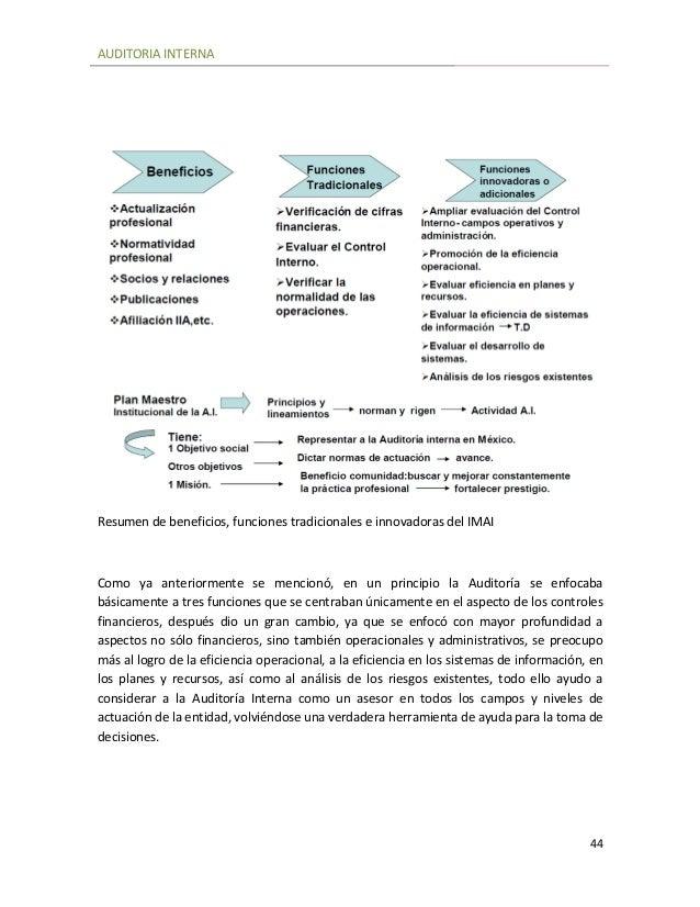 Auditoria Interna Funciones Auditoria Interna 44 Resumen