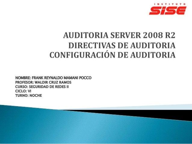 Auditoria server 2008 r2