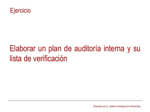Plan de Auditoria Interna Plan de Auditoría Interna