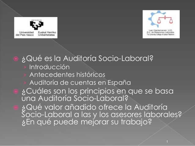  ¿Qué es la Auditoría Socio-Laboral? › Introducción › Antecedentes históricos › Auditoría de cuentas en España  ¿Cuáles ...