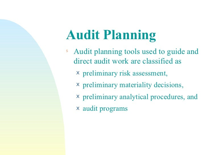 audit planning Paper p7, advanced audit and assurance, regularly features questions set in the planning phase of an audit effective planning will focus the auditor's attention on key areas of the audit and ensure that sufficient resources are allocated to the engagement planning should result in an audit that.