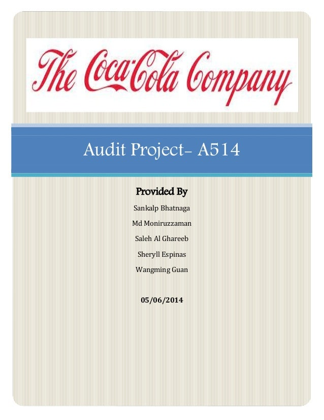 brand audit of cocacola The pepsi brand audit is a comprehensive examination to assess its health and uncover sources of equity and ways to improve and leverage the equity (keller, 2014a) within this brand audit, a complete  (the coca-cola company, 2014b) while pepsi and coke continue its cola battle, the dr pepper.