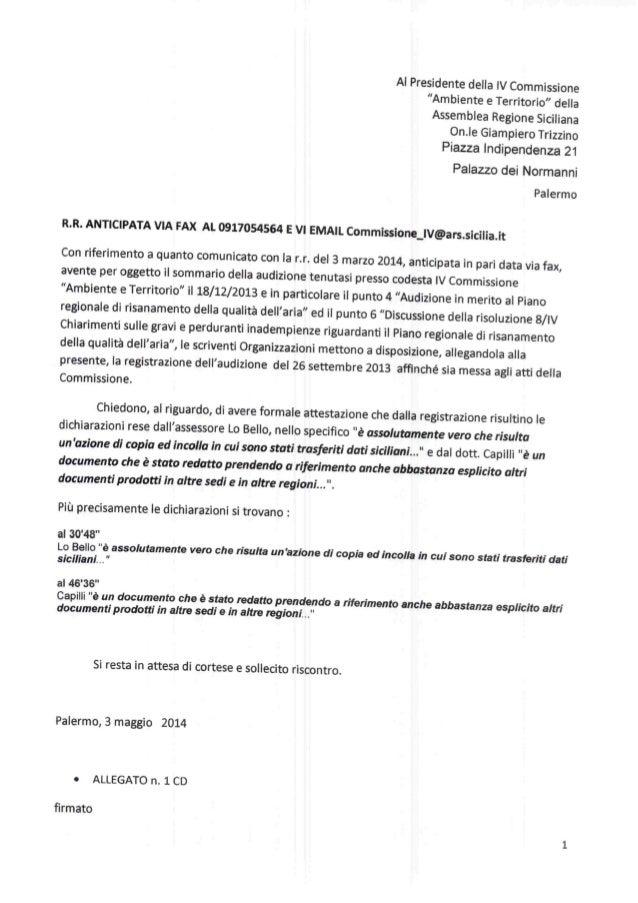 Audizione comunicato file audio audizione 26 sett 2013