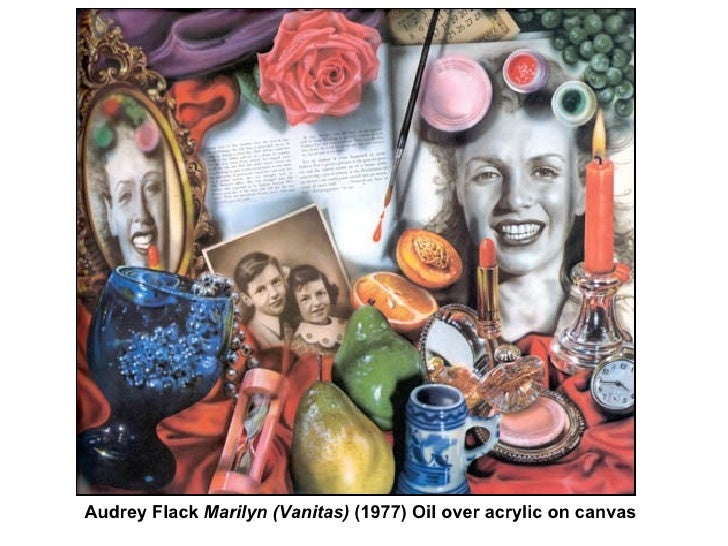 audrey flack marilyn essay Marilyn (vanitas) is one of audrey's more famous pieces a few things to explain audrey flack encourages our inner beauty posted by nc at 3:48 pm.