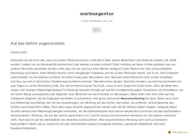 werbeagentur                                                           A fine WordPress.com site                          ...