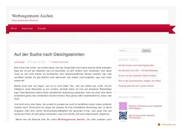 Auf der Suche nach Gleichgesinnten web design August 16, 2013 Leave a comment Man kennt das sicher, man erklärt etwas und ...