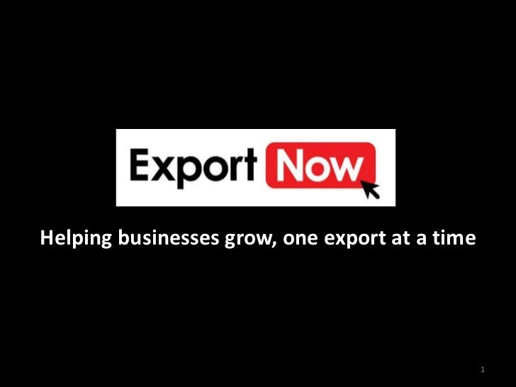 Export Now Introductory Presentation