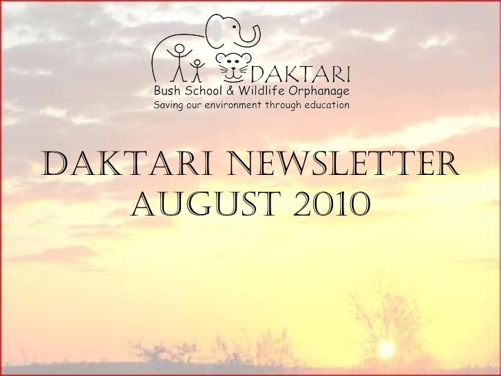 Daktari Newsletter August 2010