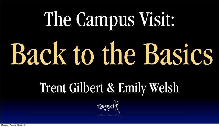 Campus Visit Basics