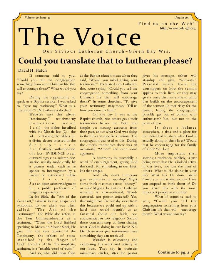 Volume 20, Issue 32                                                                                       August 2011     ...
