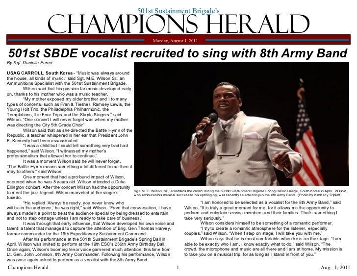 501st Sustainment Brigade's                       Champions Herald                                              Monday, Au...