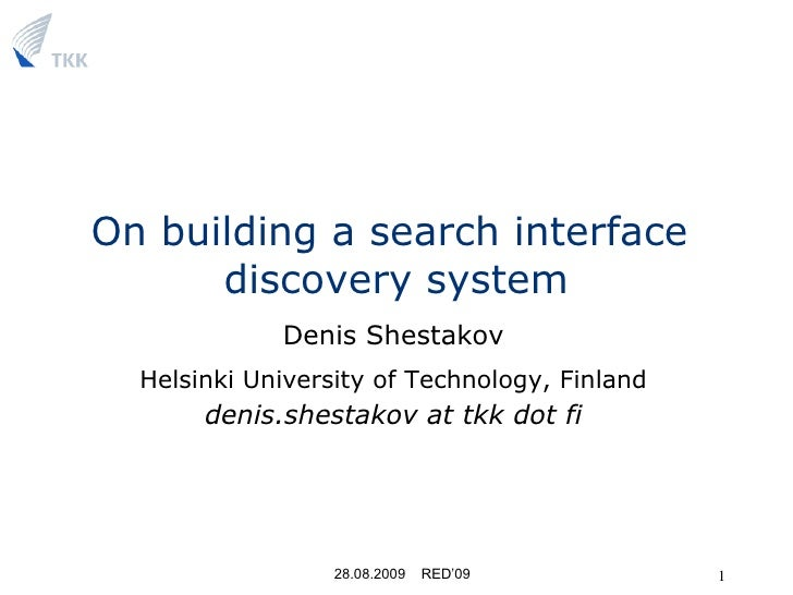On building a search interface discovery system