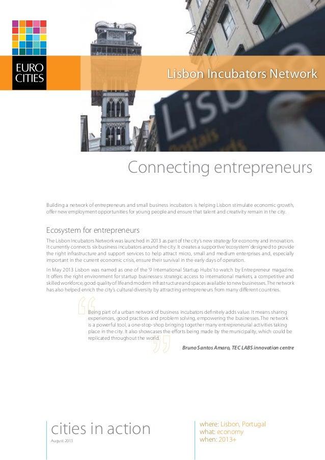 Lisbon Incubators Network in Eurocities