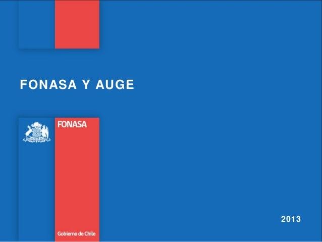 FONASA Y AUGE2013