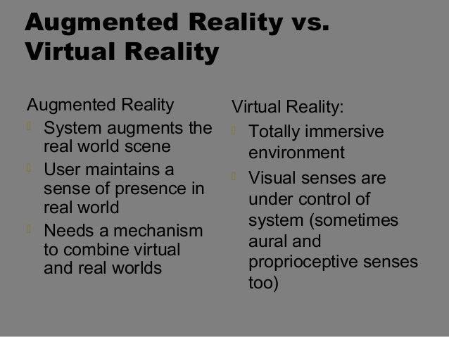 Reality vs. virtual reality?