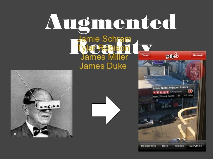 Augmented Reality Jamie Schram Tylar Robison  James Miller James Duke