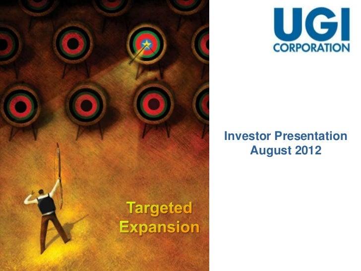 Investor Presentation - August 2012