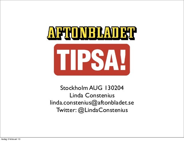 Tipsa: Transforming Jira into an editorial tips administration tool –  Atlassian User Group Stockholm