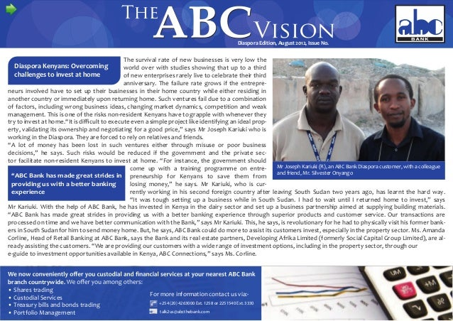 The ABC Vision Diaspora Edition August 2012