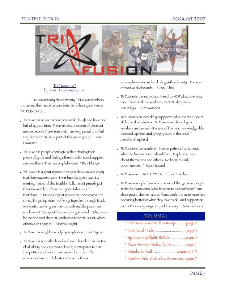 TriFusion Newsletter - Aug.'07