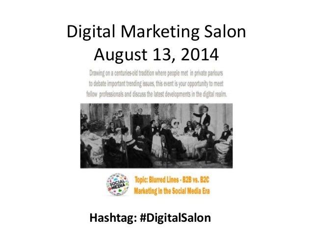 Digital marketing salon b2b vs b2c august 13 2014 - Salon marketing digital ...