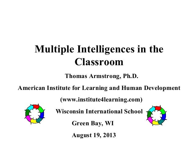 Handouts for Multiple Intelligences in the Classroom Full ...