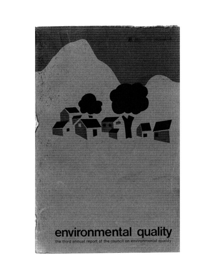 August 1972 The Second Annual Report Of The Council On Environmental Quality