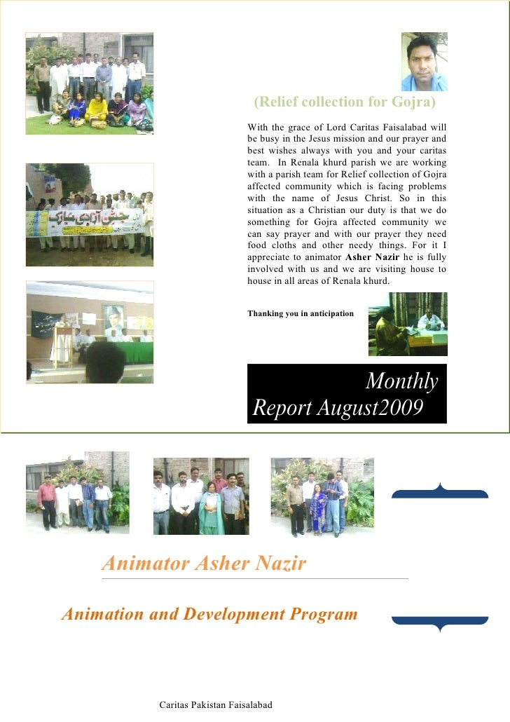 Monthly Report August2009