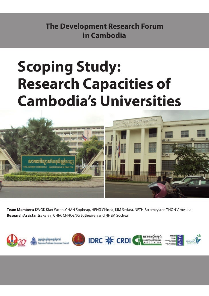 The Development Research Forum                              in Cambodia     Scoping Study:     Research Capacities of     ...