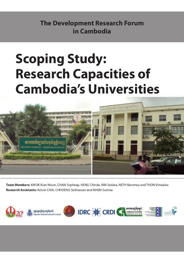 Scoping Study: Research Capacities of Cambodia's Universities