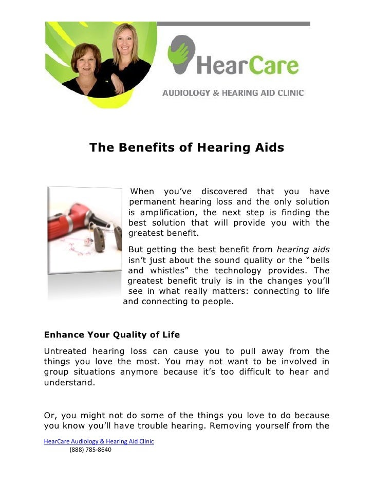 The Benefits of Hearing Aids                              When you've discovered that you have                            ...